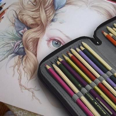 Colored Pencil 72 Slot Artist Art Pen Organizer