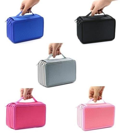 4 Layers High Capacity Pencil Brush Case Box Pen Pouch Bag M