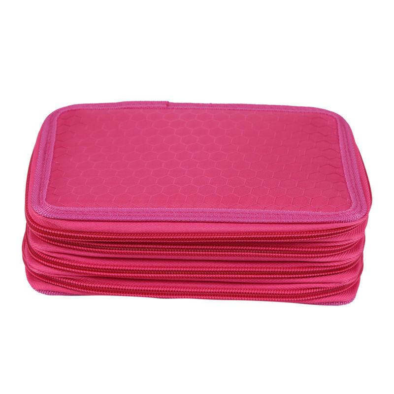 4 Layers Nice Pencil Brush Case Box Pen Makeup Storage Bag