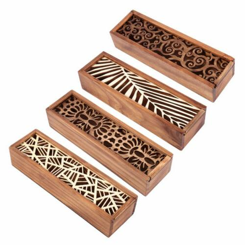 4 Types Retro Hollow-carved Pen Pencil Case Stationery Beads