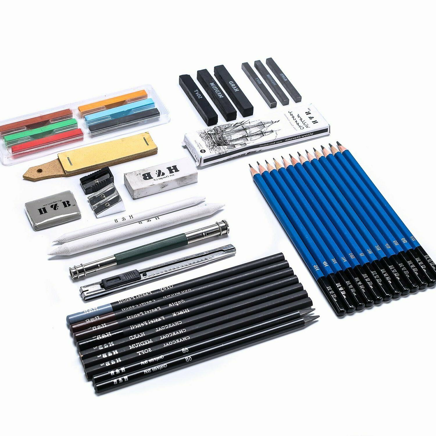 48 Drawing Pencil Set Carry