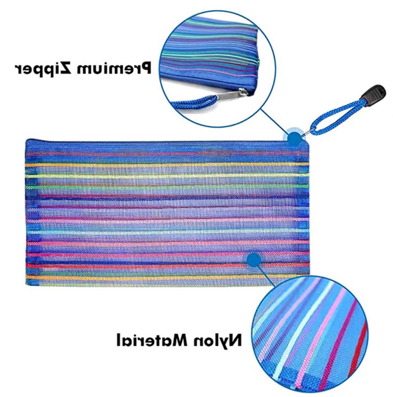 6 Plastic Pouch for Pen Cosmetic