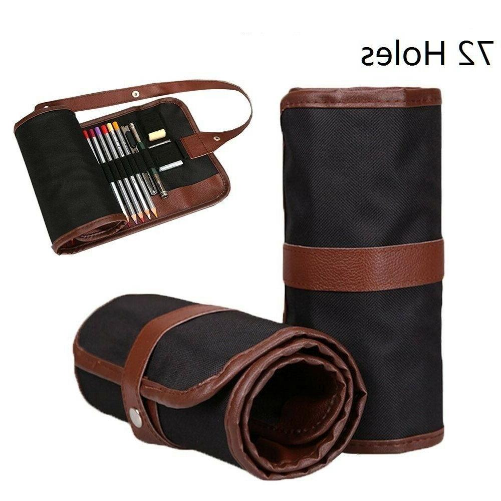 72 holes drawing pencil roll case artist