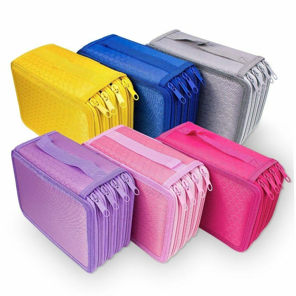 72 holes pencil case for students oxford
