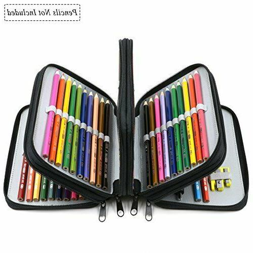 72 Slots Pencil Handy Capacity Oxford Multi-layer Makeup Brush Bag