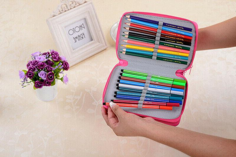 72 Slots Pencil Handy Large Oxford Multi-layer