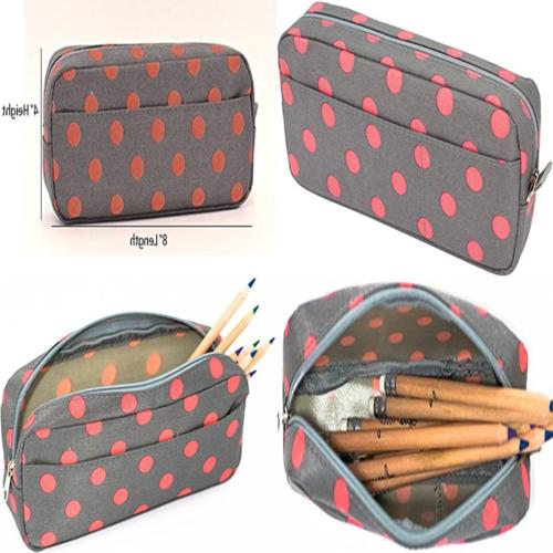 Blue Monaco Cute Pencil Case For Girls Pen Pouch Makeup Bag