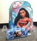 "Disney Moana Large Backpack 16"" school backpack W/ BLUE penc"
