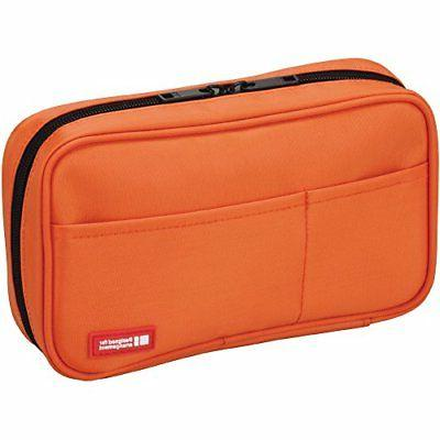 LIHITLAB pen case Book Type A7551-4 Orange Stationery pencil
