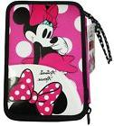 Minnie Mouse Disney Double Pencil Case for Girls with Statio