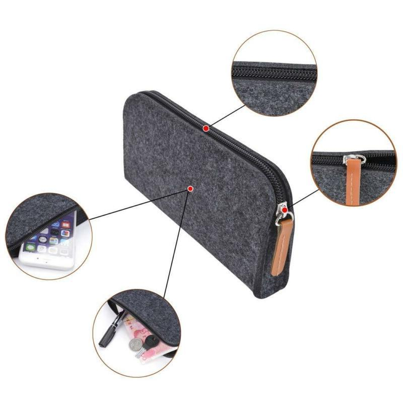 Pencil Coofit Pack Case Pencil Holder Cosmetic Pouch Bag Dark Grey
