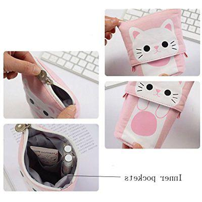 Pencil ISuperb Stand Store Canvas+PU Cartoon Cute
