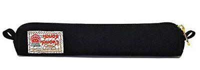 ROUGH ENOUGH pencil case black artificial suede leather slim