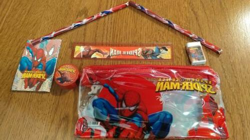 Spiderman Spider-man Spider Man Pencil Case W/ Accessories B