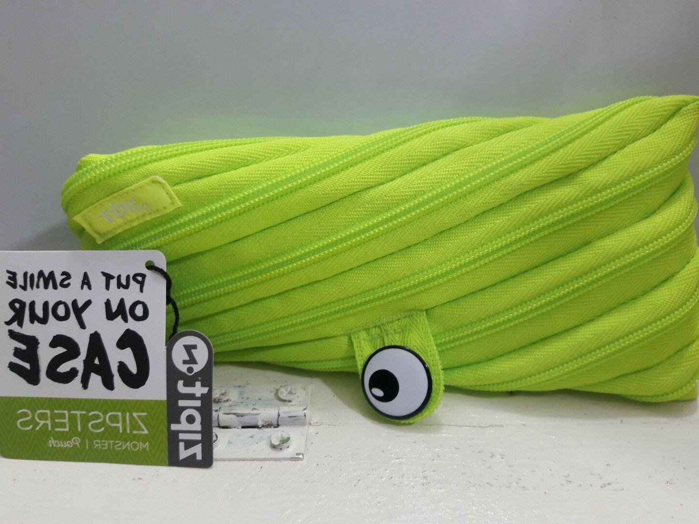 Zipit Children Monster Pencil Case Lime 8 by 4 Put a smile o