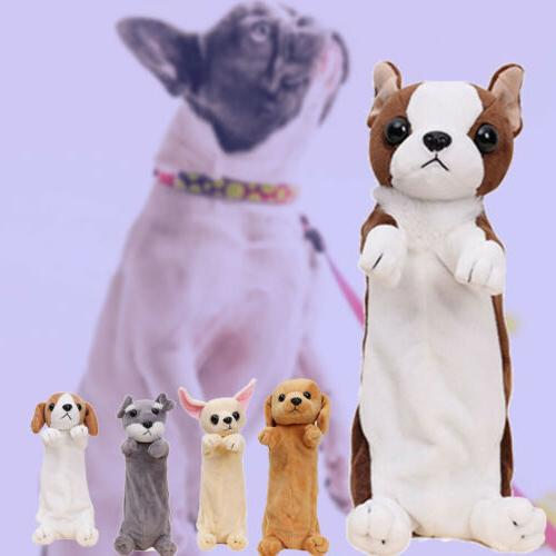 animal pen bag cartoon plush dog pencil