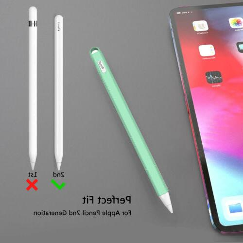 Silicone Pencil Case Cover Grip Holder Pen Protective Apple 2nd