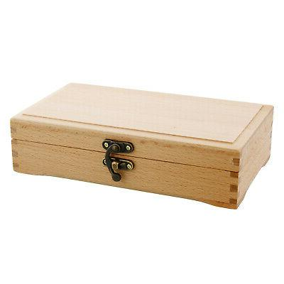 US Art Supply Small Artist Tool and Brush Storage Box with L