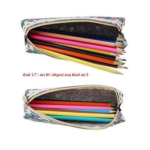LJY Floral Pen Stationery Cosmetic Bags