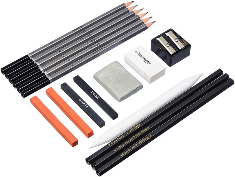 Basics Sketch and Drawing Art Pencil 17-Piece
