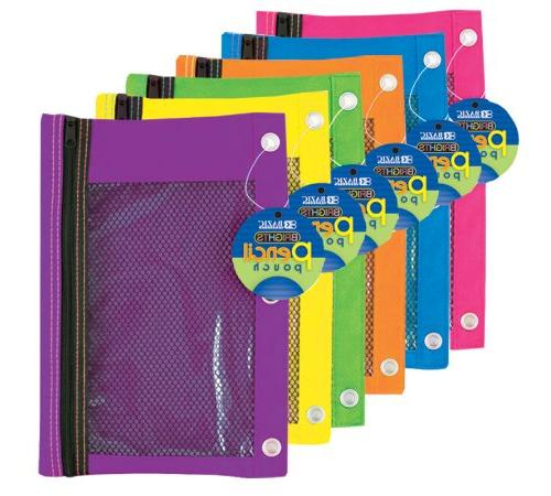 bright 3 ring pencil pouch