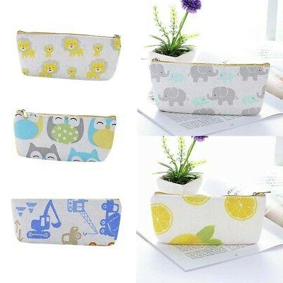 EP_ Cartoon Animal Pencil Case Box Stationery Pouch Bag Scho