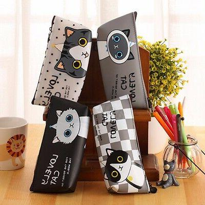 Box Pen Storage Pouch Stationary Makeup Bag