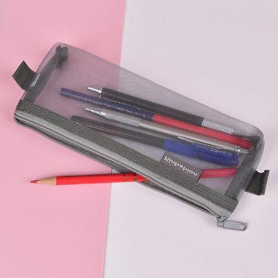 Clear 20cm Simple Zipper Stationery