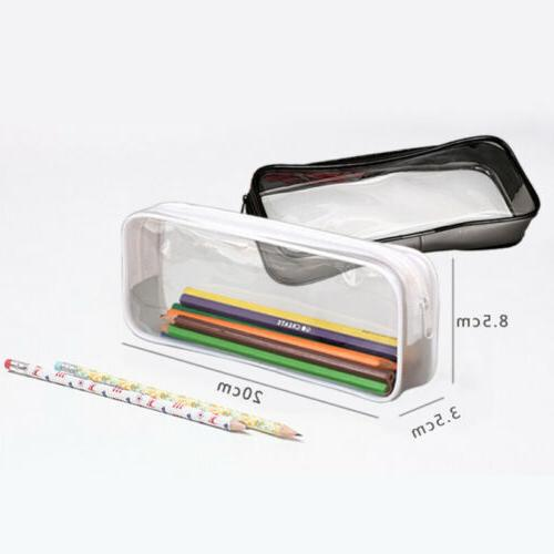 Clear Pencil Case Makeup Pouch for Stationery