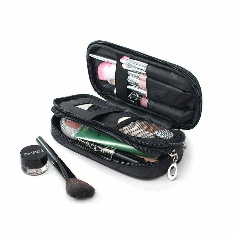 Makeup Brush Kit Bag Pencil Mirror