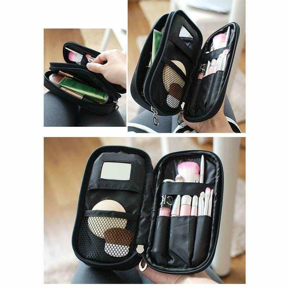 Makeup Brush Bags Kit Pouch Organizer Bag Case Mirror