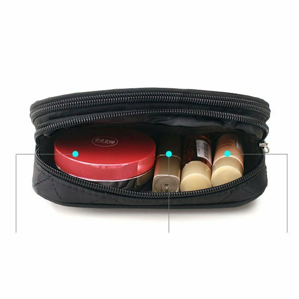 Makeup Travel Kit Organizer Bag Pencil Case Mirror