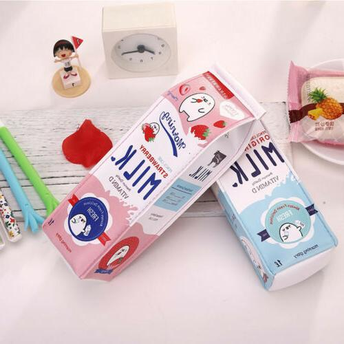 Creative Milk Pen Pouch Makeup Organizer