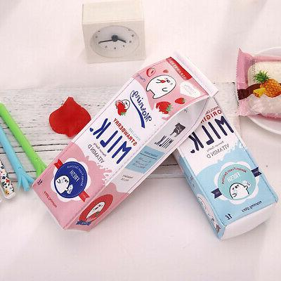 Milk Stationery Pouch Kawaii Travel Makeup USA