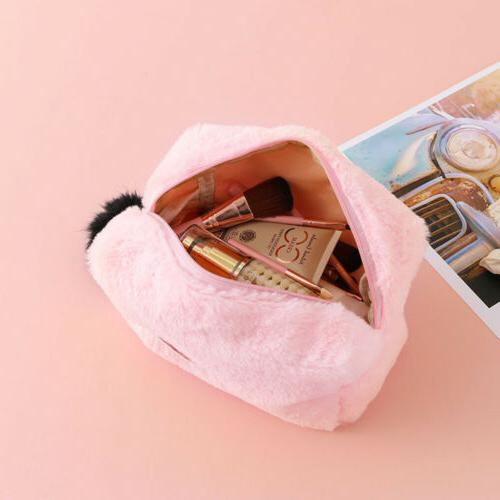 Cute Big Case Fur Ball PencilCase For Girl Stationery