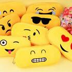 Cute Face Expression Pencil Case Plush Emoji Pouch Student S