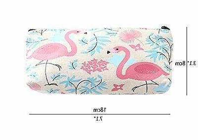 Mziart Flamingo Pencil Holder Pen Case New