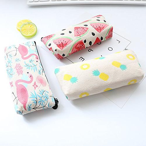 Mziart Fruit Holder Pen Case Makeup Cosmetic with 3