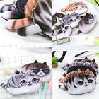 cute kawaii 3d cat face pencil case