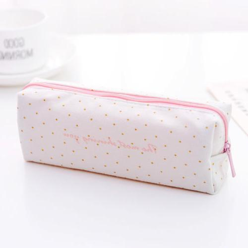 Cute Case School Stationery Pouch Zipper Cosmetic Makeup