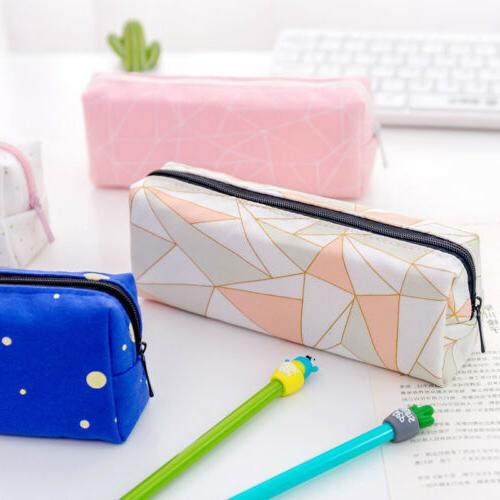 Cute Pencil Case Box School Office Stationery Pouch Zipper C