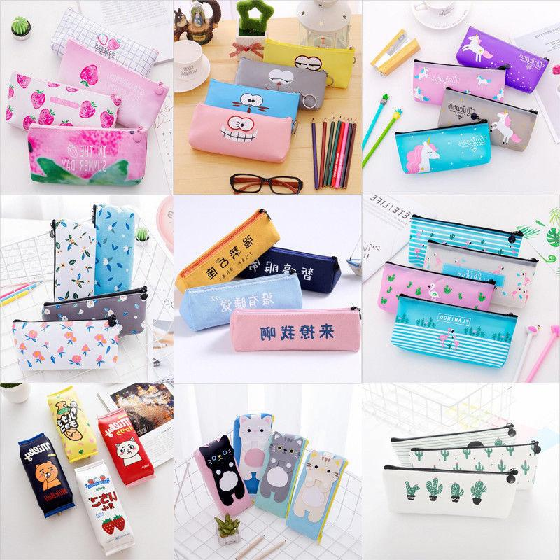 Cute Pouch Bag Cases School Office Stationery Gift