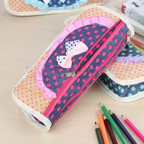 Cute Pencil Butterfly Knot Pencil Case Storage For