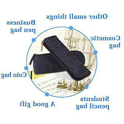 Pen Pencil Pouch Cosmetic Set of 2
