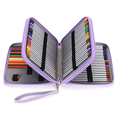Deluxe PU Leather Pencil Case for Colored Pencils 120 Slot P