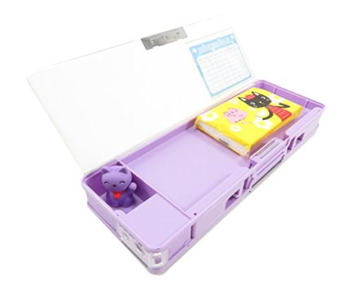 Double-Sided Soft Case With Cover Owl Giraffe 3.25 Purple Orange