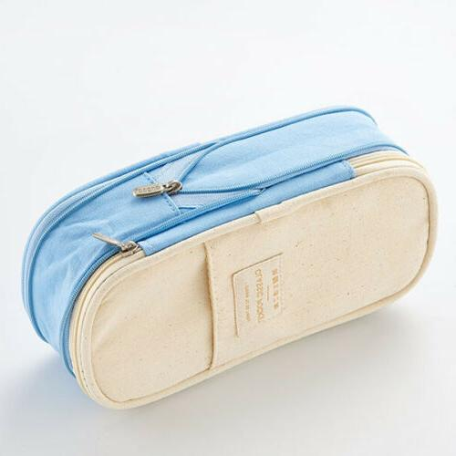 Double Capacity Pencil Girl Student Pouch