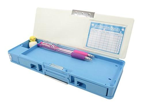 Double-Sided Case with 9 x Teal with Mechanical Pencils Safari Mini Puzzle Perfect Piece