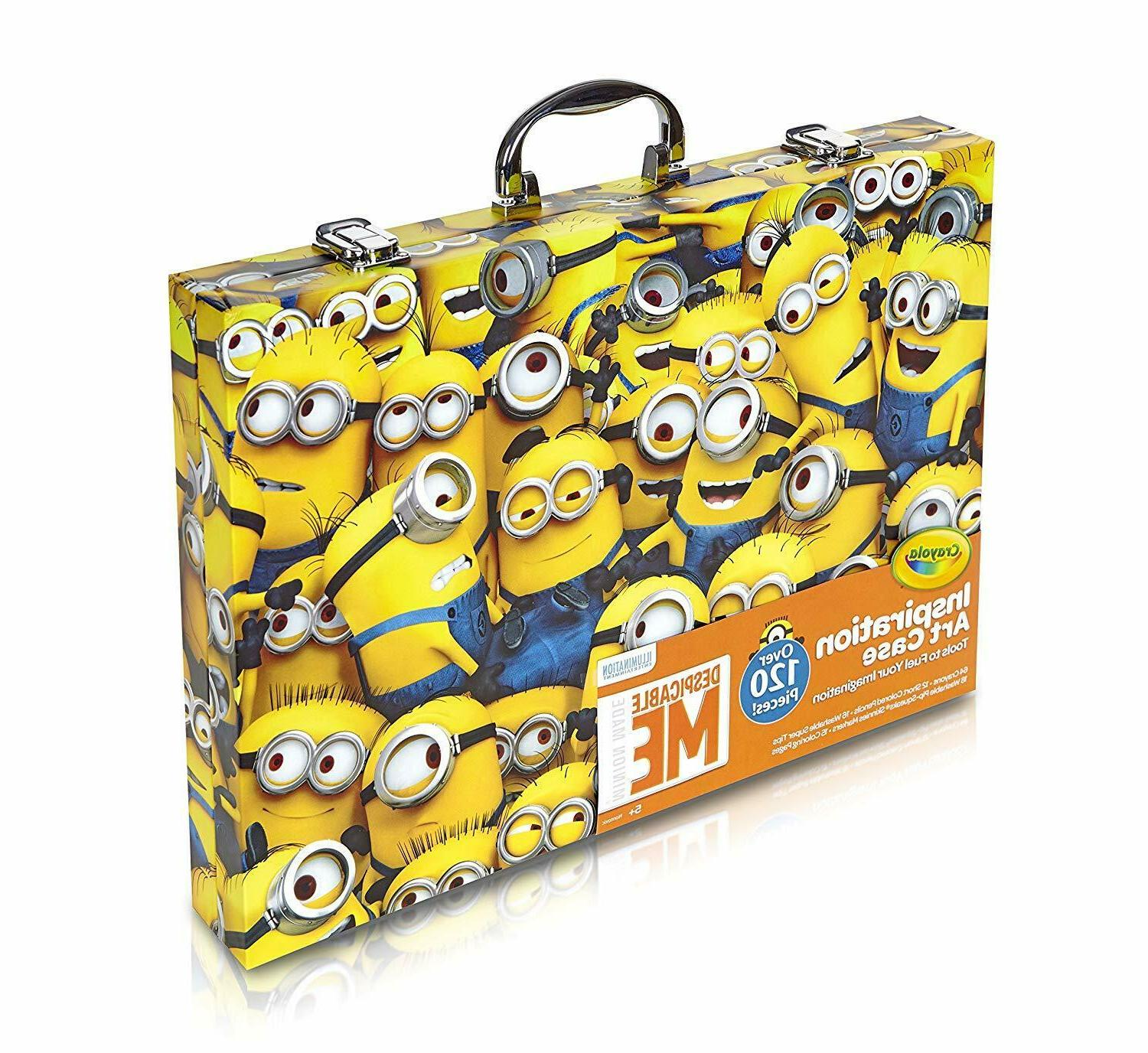 Drawing Color Pencil Crayon Marker Minions Case