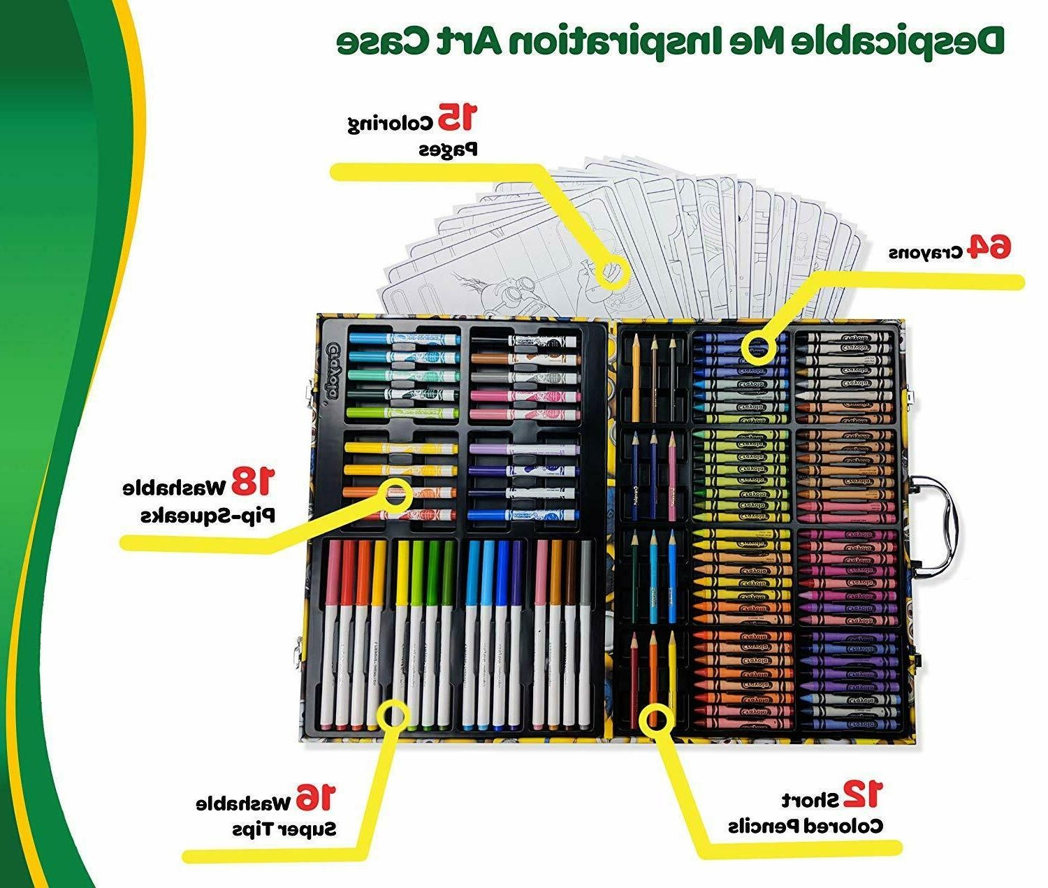 Drawing Art Painting Color Kit Pencil Marker 145 Pieces Case